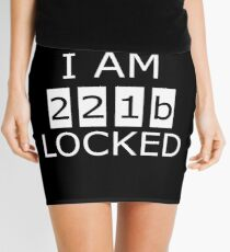 I am 221b locked Mini Skirt
