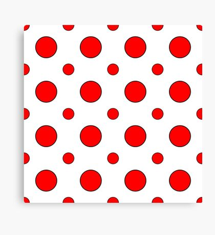 Red Dots on White  Canvas Print