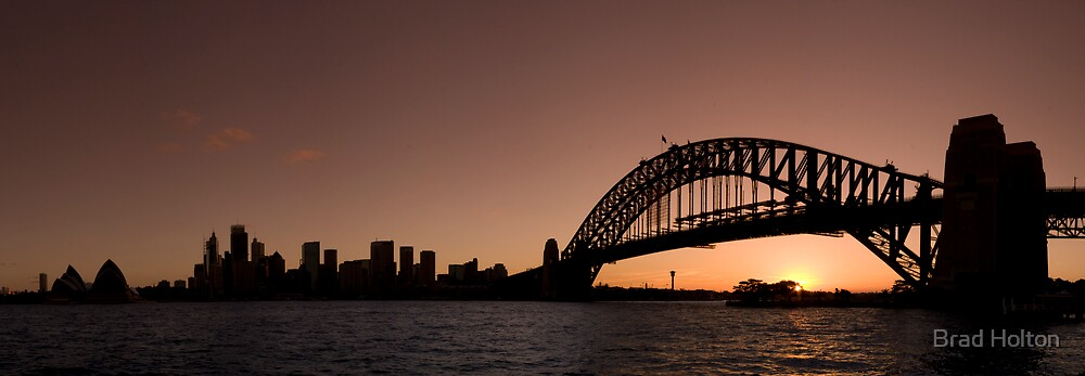 Sydney Harbour Pano by Brad Holton