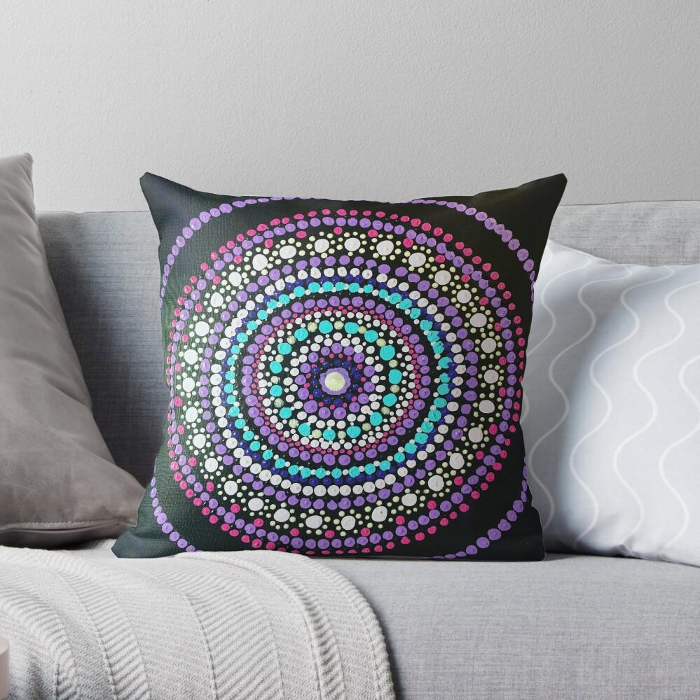 Dotted Mandala  Throw Pillow