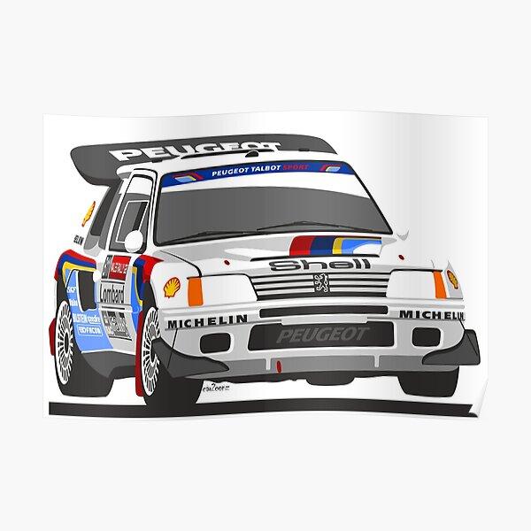 Peugeot 205 T16 Groupe B voiture de rallye Poster