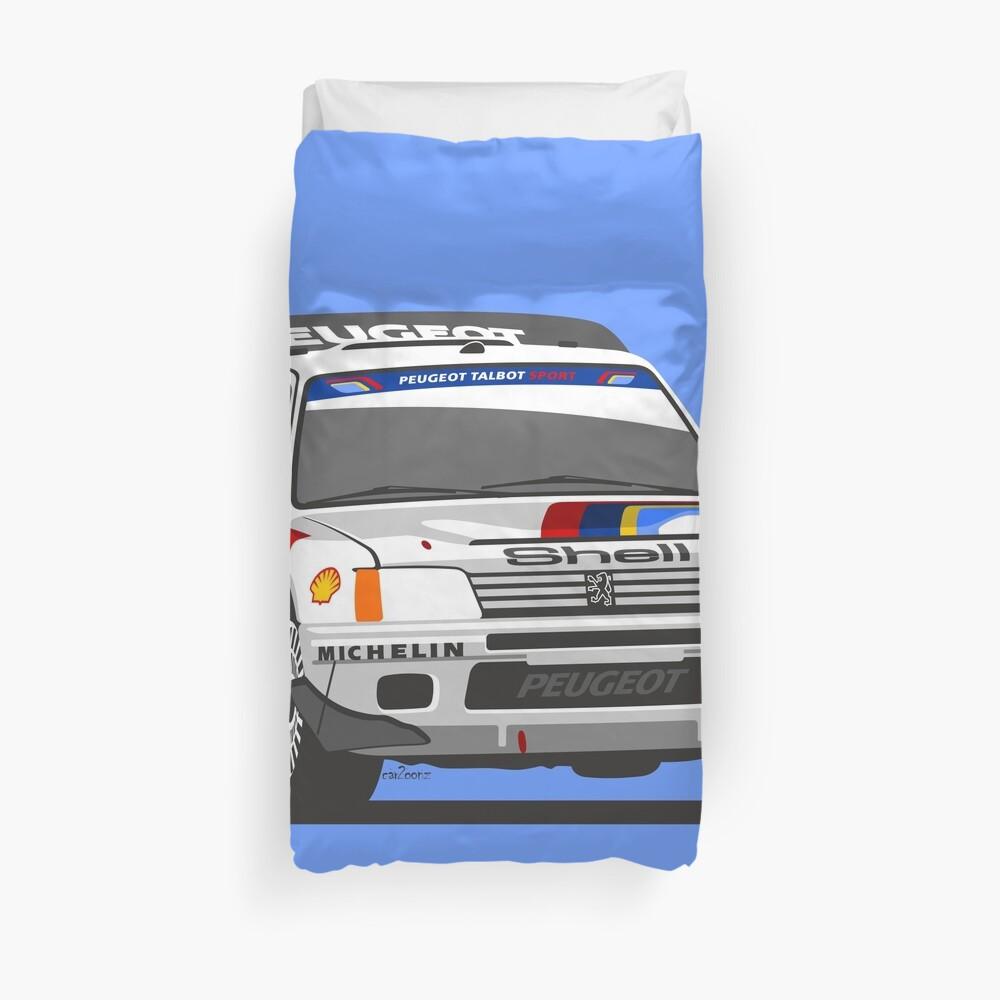Peugeot 205 T16 Group B rally car Duvet Cover