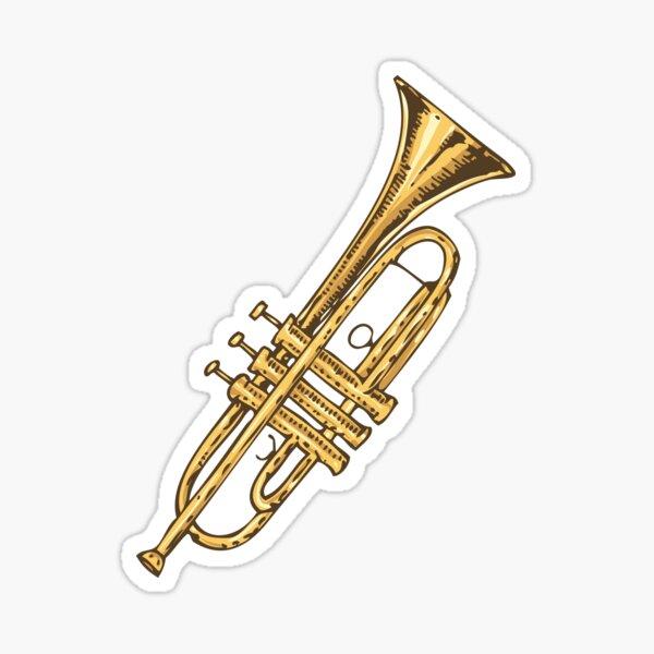 Brass Trumpet Sticker