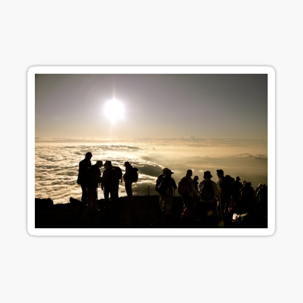 Aug. 4th, 2009 - Birthday Sunrise on Mount Fuji Sticker