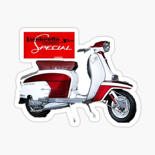 INNOCENTI Black /& Silver classic car scooter sticker