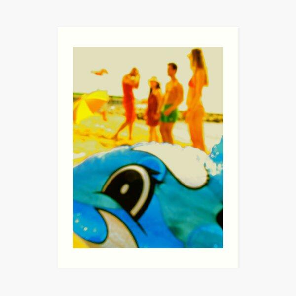 The Beached Dolfin Art Print