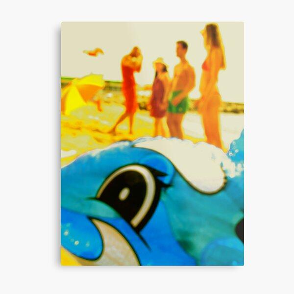 The Beached Dolfin Metal Print