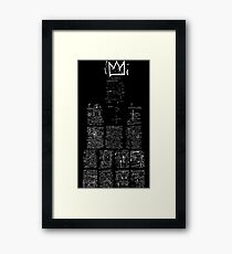 Jean Michel Basquiat Crown abstract drawing  Framed Print