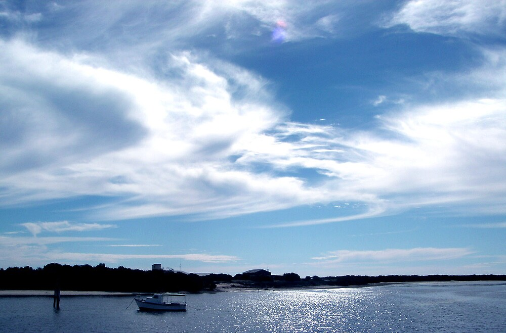 Clouds over Fishermans Bay by Danielle Boere