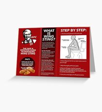 KFC Wing Sting guidelines Greeting Card