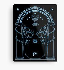 Gate to Moria Metal Print