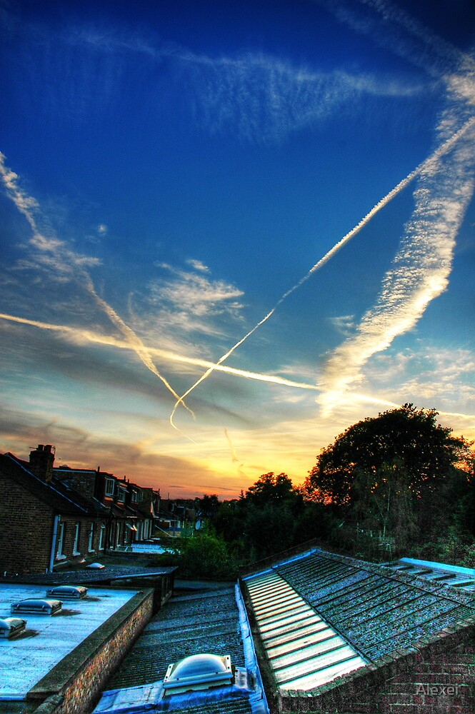 West London late summer skies by Alexei
