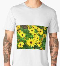 Black Eyed Susan Flowers in a Field Men's Premium T-Shirt