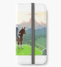 Link on Horse print iPhone Wallet/Case/Skin