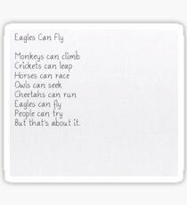 Eagles Can Fly DDLC Sticker