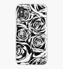 Pattern with black roses flowers.  iPhone Case