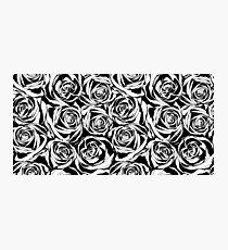 Pattern with black roses flowers.  Photographic Print