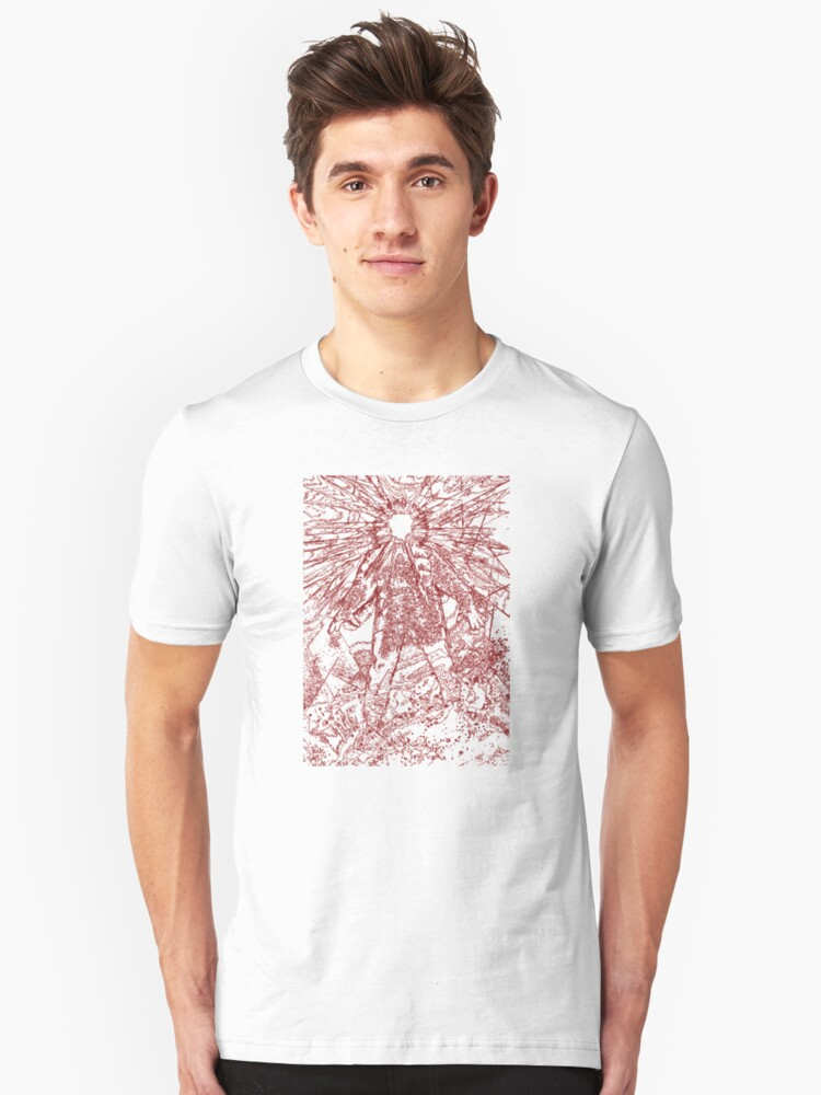 The Thing - Lines & Layers Blood Red Unisex T-Shirt Front