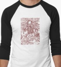 The Thing - Lines & Layers Deep Red Men's Baseball ¾ T-Shirt