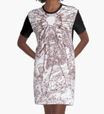 The Thing - Lines & Layers Deep Red Graphic T-Shirt Dress