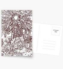 The Thing - Lines & Layers Deep Red Postcards