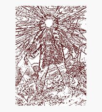 The Thing - Lines & Layers Deep Red Photographic Print