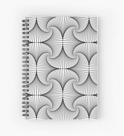 Monochrome Pattern  Spiral Notebook