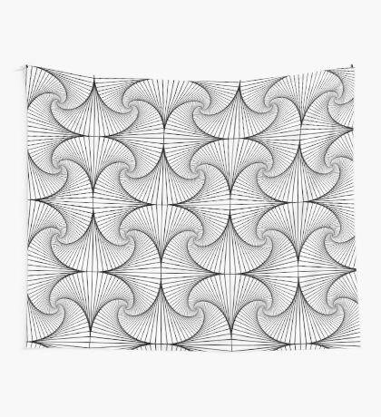 Monochrome Pattern  Wall Tapestry