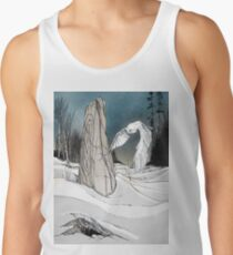 Snowy Owl and Standing Stone Men's Tank Top