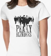 Peaky Blinders Lineup (Black&White) Women's Fitted T-Shirt