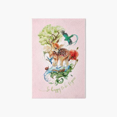 Cute vegan deer by Maria Tiqwah Art Board Print