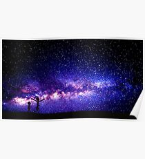 Rick and Morty Galaxy Purple  Poster