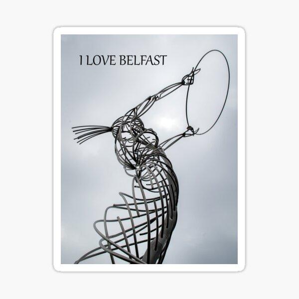 I love Belfast Sticker