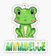 Frosch Annabelle Sticker