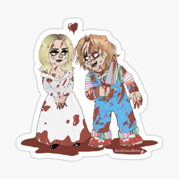 Chucky y Tiffany Pegatina
