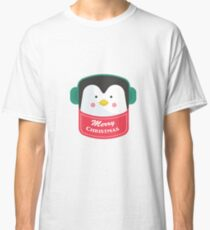 Merry Christmas Penguin Sticker Classic T-Shirt