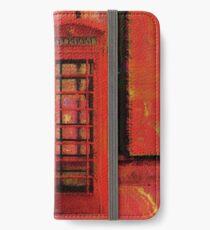 UK Red Phone Box - London England iPhone Wallet/Case/Skin