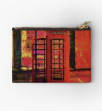 UK Red Phone Box - London England Studio Pouch