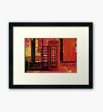 UK Red Phone Box - London England Framed Print
