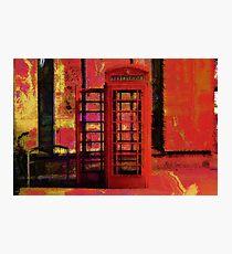 UK Red Phone Box - London England Photographic Print