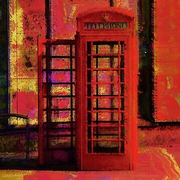 UK Red Phone Box - London England by NaturePrints