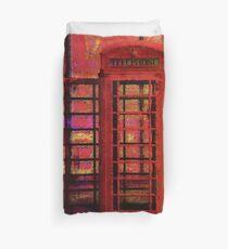 UK Red Phone Box - London England Duvet Cover