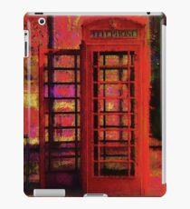 UK Red Phone Box - London England iPad Case/Skin