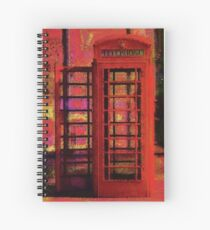 UK Red Phone Box - London England Spiral Notebook