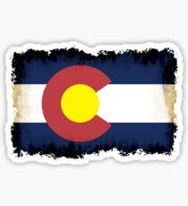 Colorado flag in Grunge Sticker