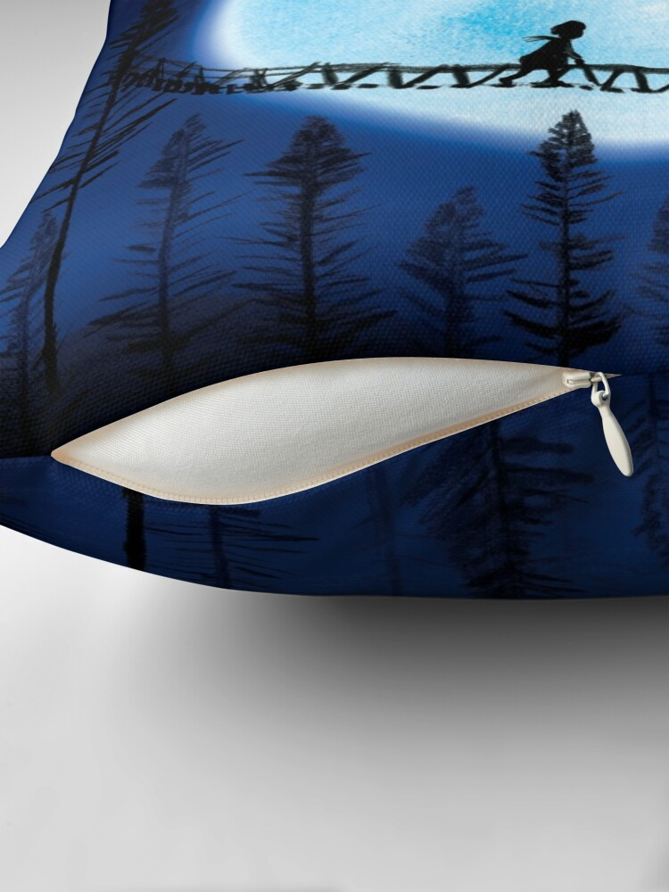 Alternate view of Blue Moon Throw Pillow