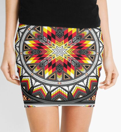 Sacred Places Red Mini Skirt