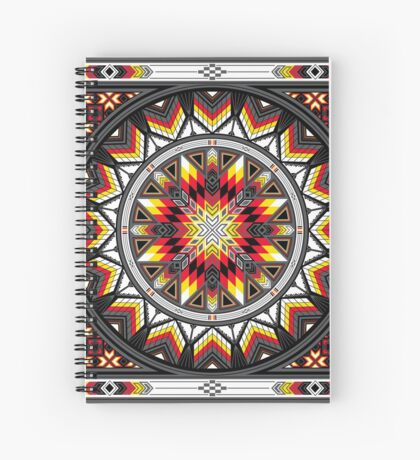 Sacred Places Red Spiral Notebook