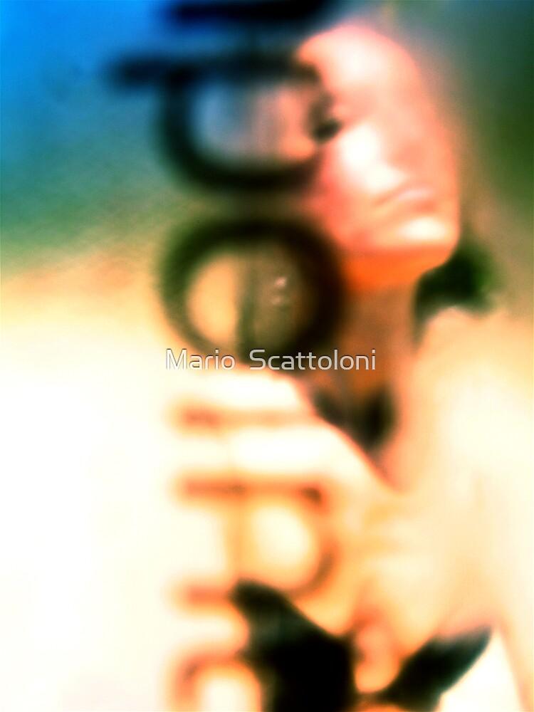 i point at U a camera & U a soul kiss by Mario  Scattoloni