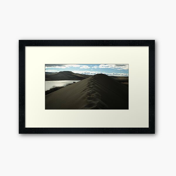 Traversing the tallest Dune Framed Art Print